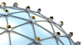 Мир линий соединения - сфера сети Стоковая Фотография RF