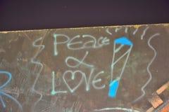 мир и влюбленность Стоковые Изображения RF