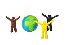 Мир и приятельство между людьми  Стоковые Изображения