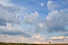 Мир и тишь на горизонте Стоковые Изображения RF
