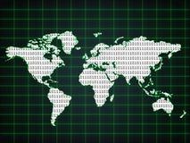 мир карты бинарного Кода Стоковые Фотографии RF