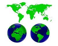 мир карты глобусов Стоковые Фотографии RF