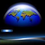 мир карты знамени Стоковая Фотография