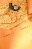 мир карты компаса Стоковая Фотография