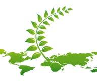 мир карты окружающей среды принципиальной схемы Стоковое Изображение RF