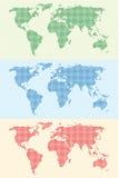 мир карты предпосылки Стоковое Фото