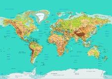 мир карты также вектор иллюстрации притяжки corel Стоковое Изображение