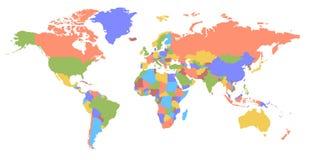 мир карты цвета карта политический u e Стоковое Изображение RF