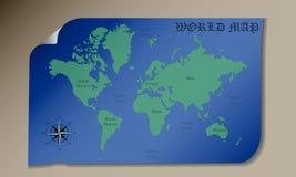 мир карты цвета Стоковые Фото