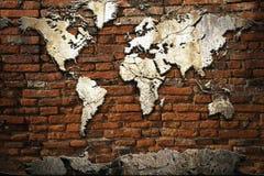 мир карты цемента Стоковое Изображение