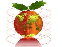 мир карты яблока Стоковое Изображение RF