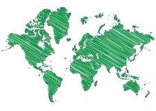 мир карты Стоковая Фотография RF