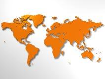 мир карты Стоковые Фото