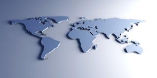 мир карты 3d Стоковое Изображение