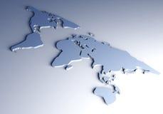 мир карты 3d Стоковое Фото