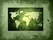 мир карты Стоковое Изображение
