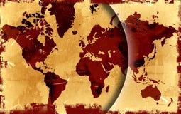 мир карты grunge Стоковые Изображения RF
