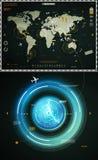 мир карты infographics элементов Стоковое Изображение RF
