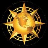Мир компаса Стоковые Фото