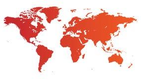 мир красного цвета карты иллюстрация вектора