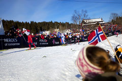 мир лыжи Осло чемпионата 2011 50km Стоковое фото RF