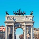 мир милана Италии свода стоковые фото