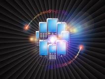 мир мобильного телефона Стоковые Фотографии RF