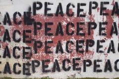 мир надписи на стенах Стоковые Изображения