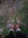 Мир на ваших ногах стоковая фотография rf