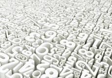 Мир номеров - перевод 3D Иллюстрация вектора