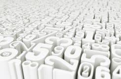Мир номеров - перевод 3D Иллюстрация штока
