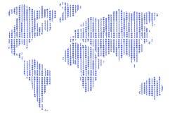 Мир одно цифров Стоковые Фотографии RF