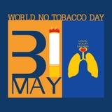 Мир отсутствие дня табака Стоковая Фотография