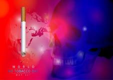 Мир отсутствие дня табака Стоковое Изображение