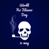 Мир отсутствие дня табака Стоковое Фото