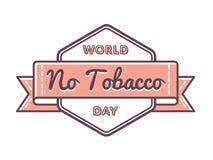 Мир отсутствие эмблемы приветствию дня табака Стоковая Фотография