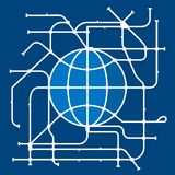 мир подземки карты Стоковая Фотография