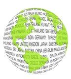 мир принципиальной схемы зеленый Стоковые Фотографии RF