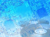 мир принципиальной схемы цифровой Стоковое Изображение