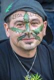 мир протеста в марше узаконения снадобья конопли Стоковая Фотография RF