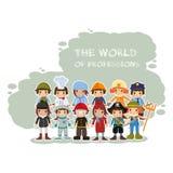 Мир профессий Стоковая Фотография RF