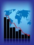 мир рецессии иллюстрация вектора
