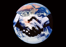 мир рукопожатия Стоковая Фотография