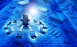 мир сети информационной технологии принципиальной схемы широкий Стоковая Фотография