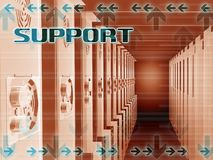 мир сети поддержки сервера широкий Стоковая Фотография