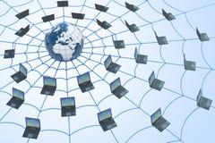 мир сети принципиальной схемы широкий Стоковая Фотография