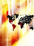 мир сети принципиальной схемы широкий Стоковое Изображение