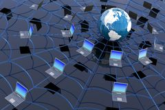 мир сети принципиальной схемы широкий иллюстрация вектора