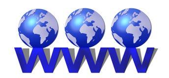 мир сети широкий Стоковое Изображение RF