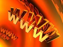 мир сети 3d широкий Стоковые Изображения